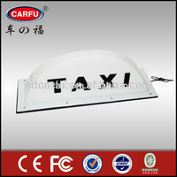 Plastic products car roof top advertising lighted signs with high quality