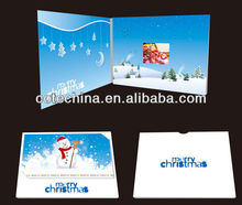 LCD video brochure card,video player greeting card,invitation lcd video greeting card