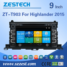 For Toyota highlander 2015 car gps navigation system 9 inch car dvd player 2 din car radio p[layer with MP3/MP4 player BT USB/SD