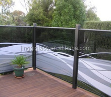 High quality best price printed decorative glass for railing