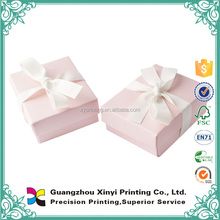 Matt laminated textured pink gift boxes wedding favor