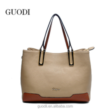 hot sell tote fashion handbag leather handbag in high quality from Guangzhou