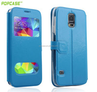 Crystal pattern suport leather case for samsung galaxy s5 phone