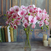 GNW fabric flowers wholesale artificial flowers orchid real touch flowers for wedding decoration