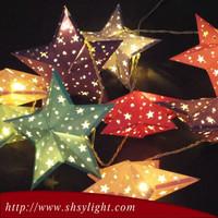 little led multicolor paper lantern christmas flower light battery powered led christmas light
