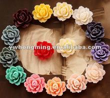 Beautiful resin flower cabochons for cell phone! Flat back resin flower cameos!
