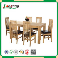 Outdoor Garden Teak Wood Square Dining Table and hairs Set