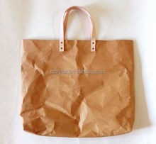 modern elegant kraft shopping bags