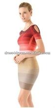 moda elástico vendaje en vestido de spandex del rayón tela vestido de hl