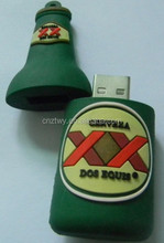 bottle usb disk for promotion gift pvc usb disk memory pendrive flash disk 4gb 8gb