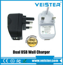 UK Plug 5v 2a Mobile Phone Use and Electric Type multiple usb wall charger