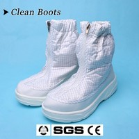 Cleanroom middle boots PU/PVC safety work shoe made in China