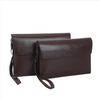 China manufacturer factory price wholesale fashion men's pu leather clutch bag
