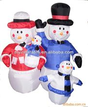 outdoor family personalized christmas ornaments snowman