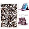 Leopard Pattern 360 Rotating Leather Case for iPad Air 2 with Elastic Belt