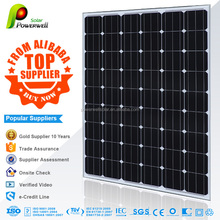 Powerwell Solar 235w monocrystalline solar module high efficiency fiexible solar panel china price with all certificates