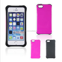Brand New Bright Color Ultra Thin Stylish Shockproof Combo Hybrid Mobile Case for iPhone 5 5G 5S