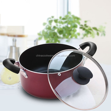 Popular aluminum non-stick big pot with lid