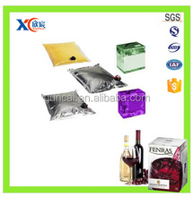 Transparent PE plastic coffee packaging bag with valve