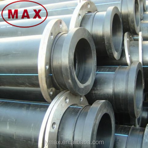 Polyethylene water hdpe poly pipe flanged pn dn view
