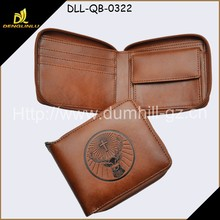 Casual Style Zipper Imitation young men purse, brown young leather men purse