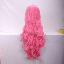 High quality pink wavy wigs Wholesale cheap synthetic wigs cosplay wigs
