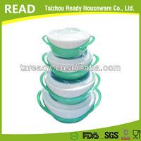 4PCS SET PLASTIC insulated casserole soncap