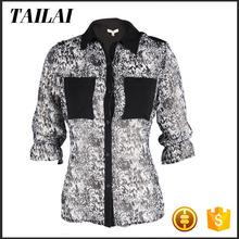 Clothes supplier Latest design Fitness Fashion fat women chiffon blouse