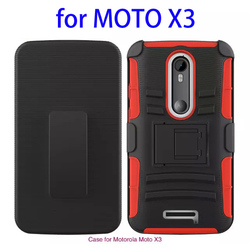 Trade Assurance Supplier Silicone and PC holster combo case for moto x3 made in China