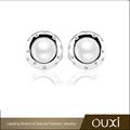 2015 Nuevo OUXI nuevo diseno joyeria plata opal con zirconia y perla