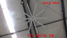 7.3m heavy duty exhaust fan/ HVLS fan/ 24ft air cool big electric fan,10 blades with natural breezing cooling system