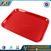 red plastic tray rectangular for hotel and restaurant