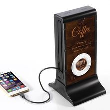 Unique design 20000mAh power bank for Coffee bar/restaurant/bank/KTV with advertising paper public place 4 USB devices