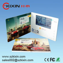 High quality 7 inch TFT color screen business video card video book video brochure with 1400mAh built-in battery