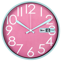 2015 new products 30cm colorful plastic decorative wall clocks with calendar