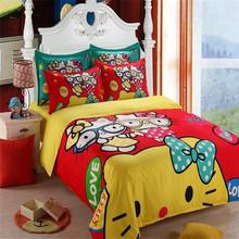 Promotion!! Luxury Brand Cartoon Printed christmas bedding sets home textile wholesale Duvet Cover Set Bed Linen 4pcs