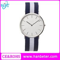 Ultra thin minimalist stylish nylon strap watch classic brand watch