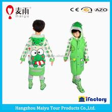 children carton all cover print rain suit raincoats