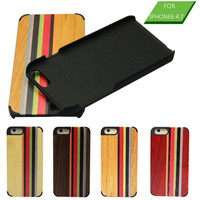 Color mixing wood back phone case,wood case cover for iPhone 6,for iPhone 6 wood cover