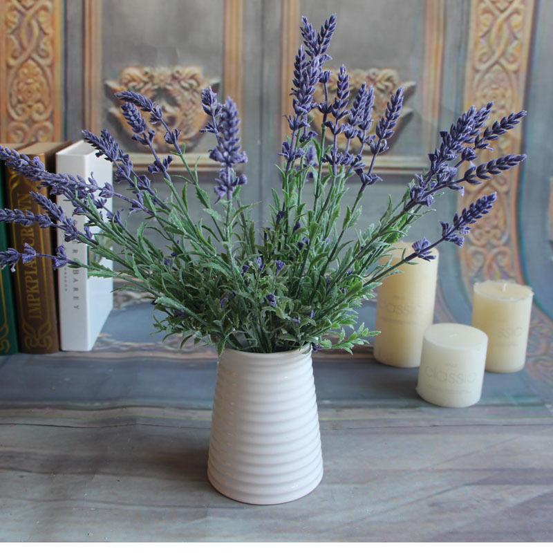 source mini fresh green fake plants bouquet lavender leaves