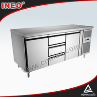 Counter Type Restaurant Vegetable Storage Horizontal Commercial refrigerator