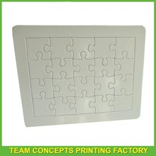 Best quality sublimation blank paper jigsaw