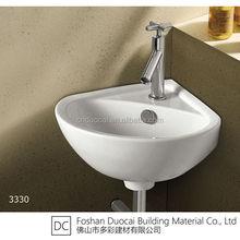 Ceramic Househould Corner Wall Hung Wash Basin Price in India (ET-J3330)