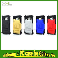 2 In 1 PC+Silicon Armor Protective phone Case With Stand For Samsung Galaxy Galaxy S6
