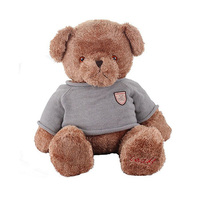 high quality cute stuffed plush teddy bear toy, dressed teddy bear, plush teddy with clothes