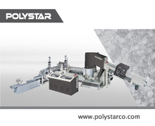 Double stage pelletizer line for waste plastic