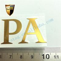 Golden yellow sticker custom slim LOGO sticker