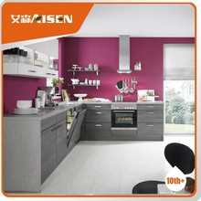 With quality warrantee mfc kitchen cabinet with wood veneer