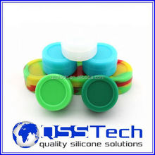 High quality 3ml small containers for liquid/ silicone bho container/ silicone bho wax and oil container