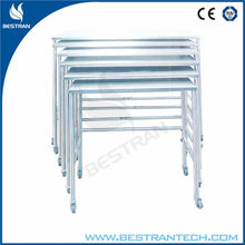 Chinese BT-SIT018 stainless steel hospital cart Nested tables for Operation Apparatus